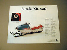 Vintage Suzuki XR Snowmobile Brochure