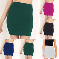 Womens Skirts Ladies Elastic Fashion Office Skirts Short Bodycon Work Mini