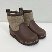 Ugg Bayson Brown Leather Wool Waterproof Boots Toddler Girl size 10