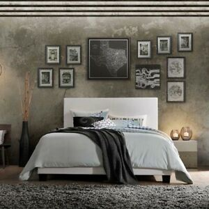 Stylish And Modern Bed Frame Black Lien Twin Bed Solid Wood