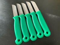 5x SOLINGEN Küchenmesser GRÜN Obstmesser Schälmesser Allzweckmesser Messer