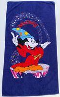 VTG A Disney Exclusive 100% Cotton Large Beach Towel Mickey Mouse Fantasia 58x32
