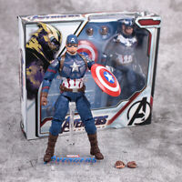 Marvel Avengers S.H.Figuarts SHF Captain America Action Figure Christmas Toy