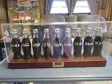 RARE! Coca Cola 100th Ann. International 9 Bottle Dealer Set with Taiwan Bottle