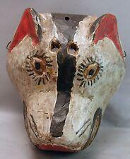 ORIGINAL WOOD COLLECTIBLE ANIMAL DOG FACE GUATEMALAN HANDCARVED MASK ETHNIX