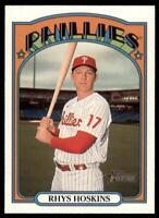 2021 Heritage Base #19 Rhys Hoskins - Philadelphia Phillies