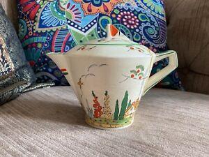 Art Deco Conical Tea Pot - Clarice Cliff Style