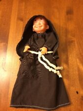 Brown Hooded Robe Monk Wine Bottle Topper Liqueur Cover Collectible Church