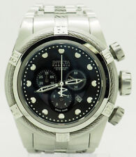 Mens Invicta Reserve Bolt 0820 S. Steel Chronograph Black MOP Dial 51mm Watch