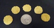 Lot Of 5 Hand Made Miniature Waffles For Your Dollhouse 1:12 Scale