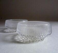 IITTALA Finland Tapio Wirkkala 'ULTIMA THULE' x 2. Glass BOWLS 1960's