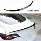 Matte Black Rear Trunk Lip Spoiler Wing Car Styling For Tesla Model 3 2017-2020