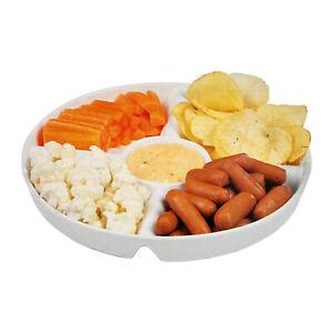 Buffet Snack Schale Teller 5 Fächer Keramik Vorspeise Fingerfood Dipp Schale