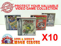 10x NINTENDO GAME BOY ADVANCE GAME BOX - PROTECTIVE BOX PROTECTOR SLEEVE CASE