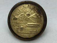 Vintage Military Ohio Seal Cuff Button Goodwins Pat. 1875 U S Army Brass Dome
