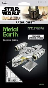 Fascinations ICONX Star Wars Mandalorian RAZOR CREST 3D Metal Earth Model Kit