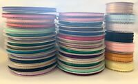 """3/16"""" Picot Feather Edge Satin Ribbon Polyester Assorted Colors Spool 50 yards"""