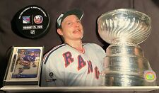 (2) NY Islanders v NY Rangers GameUsed WarmUp Puck (2/25/20)/Adam Graves picture