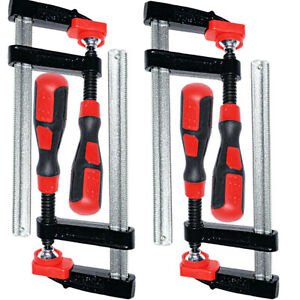 """F Clamps Bar Clamp Heavy Duty 150mm x 50mm 6"""" Long Quick Slide Wood Clamp 4PC"""