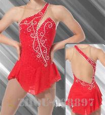 Figure Skating Dress Women Ice Skating Dresses Custom Red