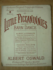 VINTAGE SHEET MUSIC - LITTLE PICCANINNIES - BARN DANCE - PIANO VIOLIN