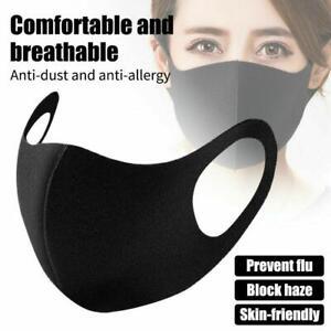 😷 Reusable Unisex Face Mask Mouth Mask Protective Reusable 24 Hr Dispatch Black