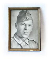 Soldatenbild mit Rahmen - Landser Soldat Unteroffizier