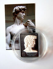 SCULPTURES MICHELANGELO David 5$ Cook Islands 2010 Silver Coin