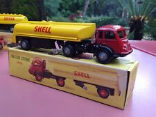 CIJ 3/72 Tracteur Renault Citerne Shell  Mint in original box stock de magasin