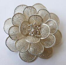 Brosche Silber filigrane Arbeit Vintage 60er brooch silver