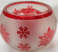 Yankee Candle Votive Holder RED STAR SNOWFLAKE Roly & 2 Surprise Votives