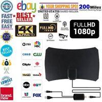 Indoor Digital HDTV TV Antenna+ Aerial Amplified 200 Mile Range VHF UHF Freeview