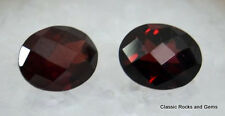 Faceted Garnet calibrated Gemstone pair Facettiertes Granat Edelstein kalibriert