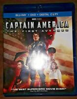 Captain America: The First Avenger (Blu-ray/DVD, 2011, 2-Disc Set, Marvel)