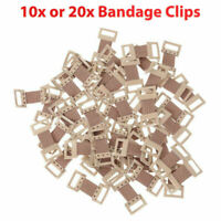 10x 20x Spare Elastic Bandage Wrap Stretch Metal Clips Clamps Hooks Buckles