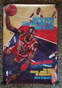 Original Michael Jordan Come Fly With Me Video Movie Poster 1989 CBS Promotional