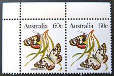 Australian Decimal Stamps:1983 Australian Animals III-Butterflies-Double 60c MNH