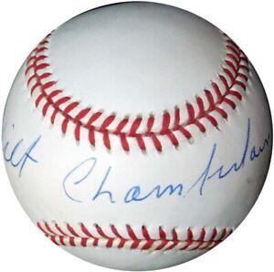 Beautiful Wilt Chamberlain Single Signed National League Baseball PSA DNA COA