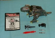 original G1 Transformers dinobot GRIMLOCK NEAR COMPLETE with booklet manual