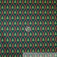 BonEful FABRIC FQ Cotton Quilt Green Red White Dot Xmas Tree Forest Stripe Swirl