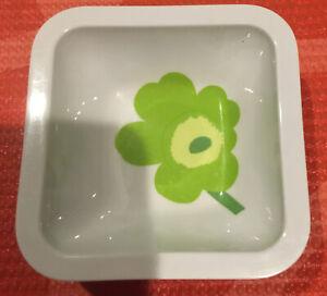 "MARIMEKKO ZAK Design Green & Yellow Small Floral Dipping Bowl Melamine 3.5"""
