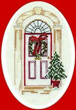 Christmas Door - Counted Cross stitch Christmas card Kit by Bothy Threads / Derw