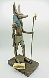 "Rare Large Veronese Egyptian Collection God Anubis Pharaoh Statue 15"" High"