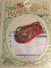 DMC Counted Cross Stitch Kit Flower Seed Company