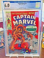 Marvel Comics, Captain Marvel #18 (MS. Marvel Appearance), 1969 CGC 6.0