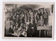 PHOTO ANCIENNE Musicien Musique Accordéon Groupe Fête Amis Alcool 1931 Drôle