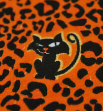 "Hallowen Cotton Lycra knit jersey fabric by the yard 55"" Kids wear Cute Cats"
