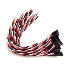 10 Stück Servo Verlängerung Verlängerungskabel 15 cm Kabel gedrillt Graupner/JR