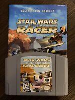 Star Wars: Episode I 1 Racer (Nintendo 64, 1997) Authentic Cartridge N64 W. Book