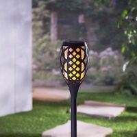 FireGlow Solar Powered Torch - 45 Inch Adjustable Height - New Technology